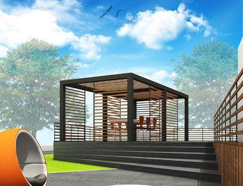 Proposta progettuale per una sistemazione esterna su due livelli