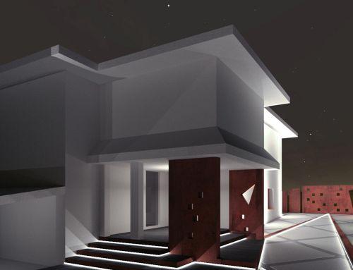 Proposta di realizzazione di scalinata di ingresso, cancello e recinzione in acciaio corten di una abitazione esistente